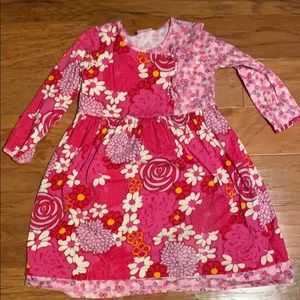 Hanna Andersson adorable girls dress. Size 130.